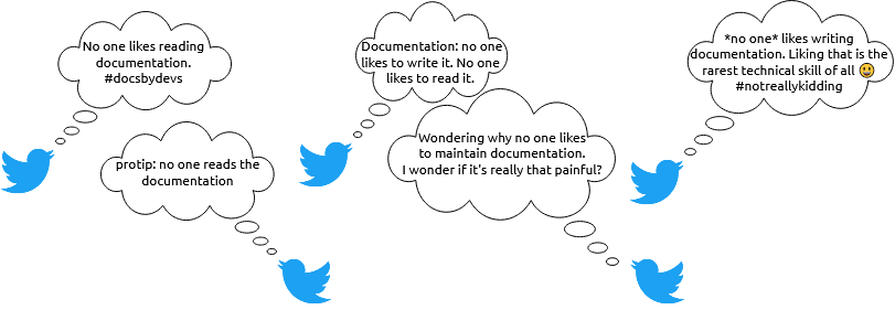 Image of twitter blue birds defaming documentation with their lies