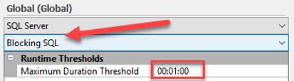 Blocking SQL Duration threshold for alerting