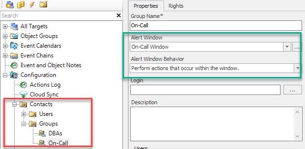 Contact Group Alert Windows