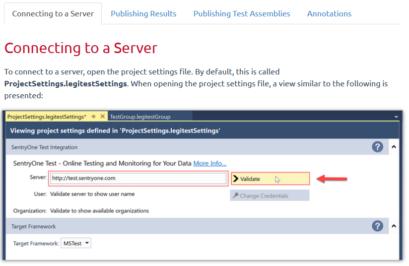 Using SentryOne Test Visual Studio Extension