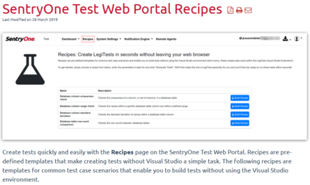Using SentryOne Test Web Portal