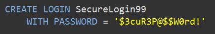 Create SQL Login
