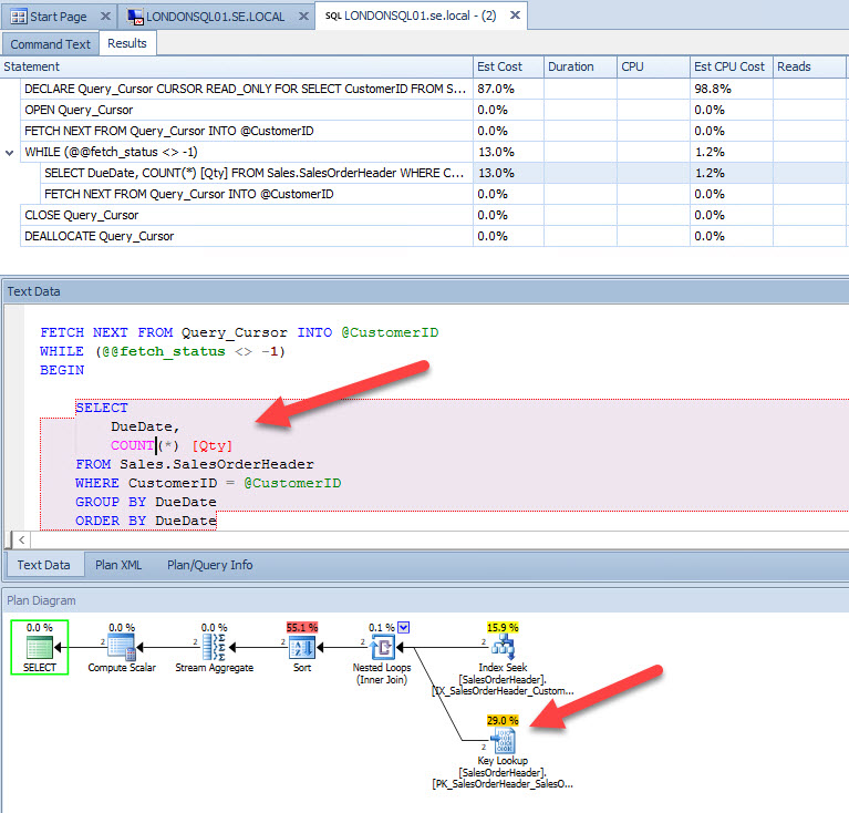 Evaluating Query With the Key Lookup