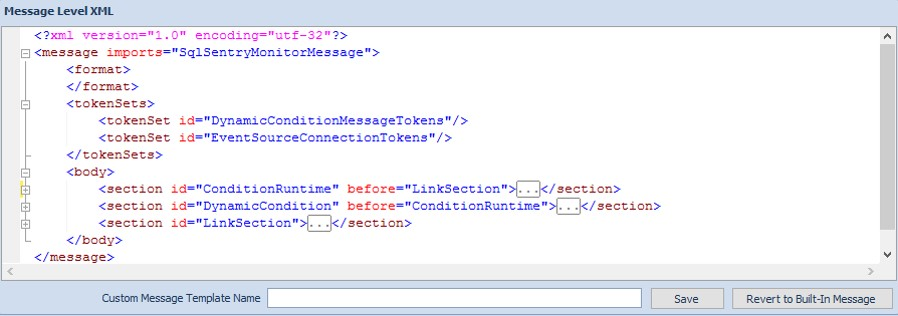 Message Level XML