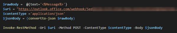 S1 PowerShell script to send notification