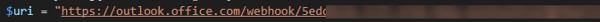SentryOne PowerShell WebHook URL