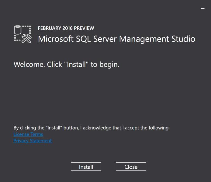 SSMS Install