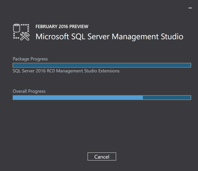 SSMS Installation Progress