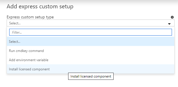 Add express custom setup