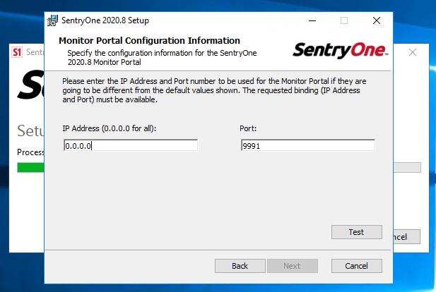 SentryOne Portal Service Configuration