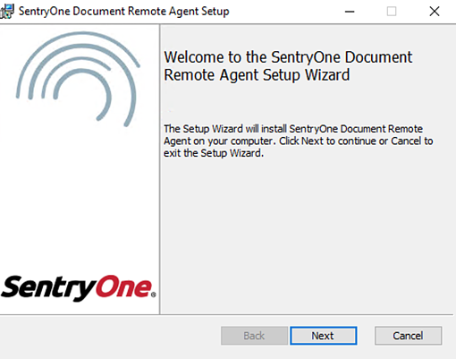 SentryOne Document Remote Agent Setup