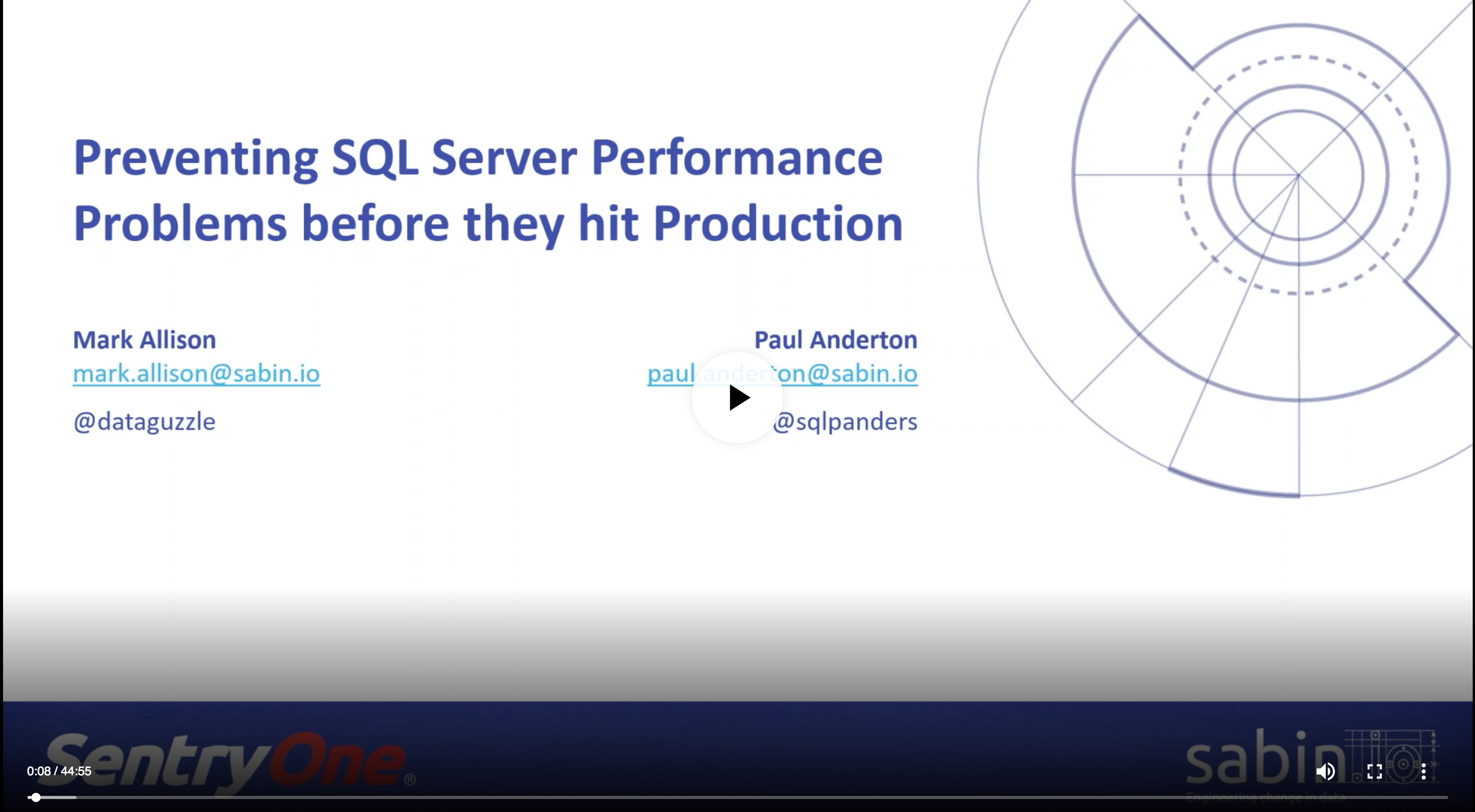 Preventing SQL Server Performance Problems (with SabinIO)