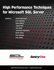 High Performance Techniques for Microsoft SQL Server Volume 1