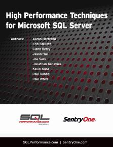 High Performance Techniques for Microsoft SQL Server Volume 1