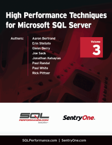 High Performance Techniques for Microsoft SQL Server Volume 3