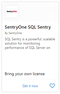 SentryOne in Azure Marketplace