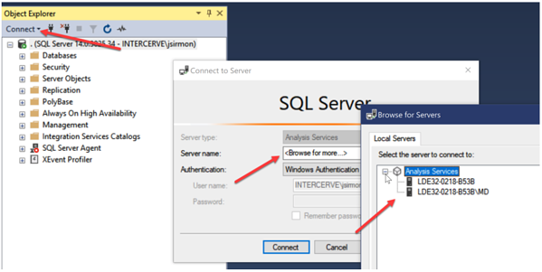 SSAS Version Shown in SSMS