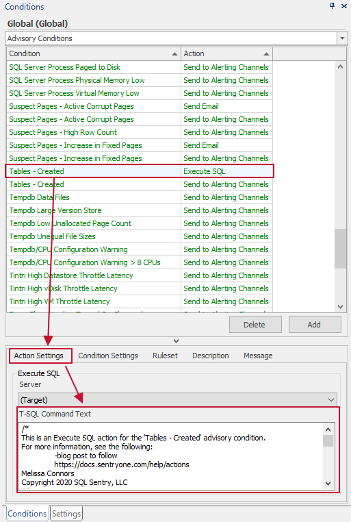 s1-auditing-advisory-conditions-execute-sql-action-settings