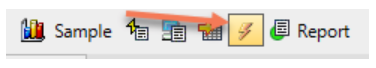 The Show Advisory Conditions Icons in the Top SQL Toolbar