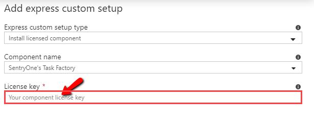 Task Factory add express custom setup license key