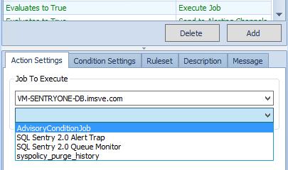 Execute Job Settings