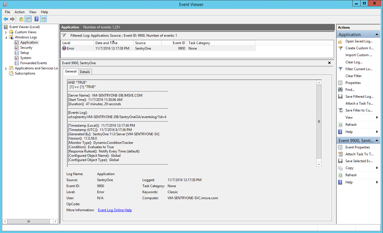 Logged to Windows Event Log