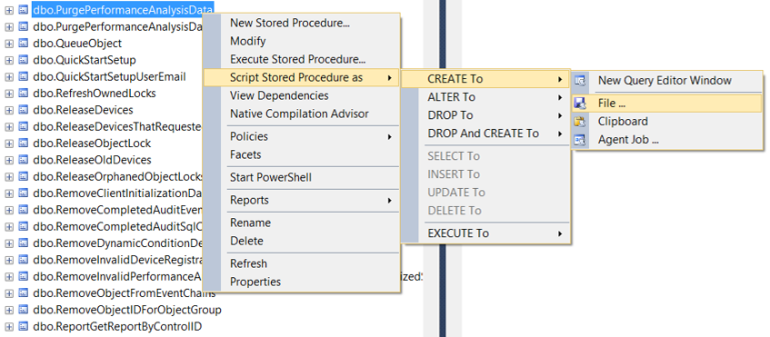 SSMS Creating backup copy of stored procedure