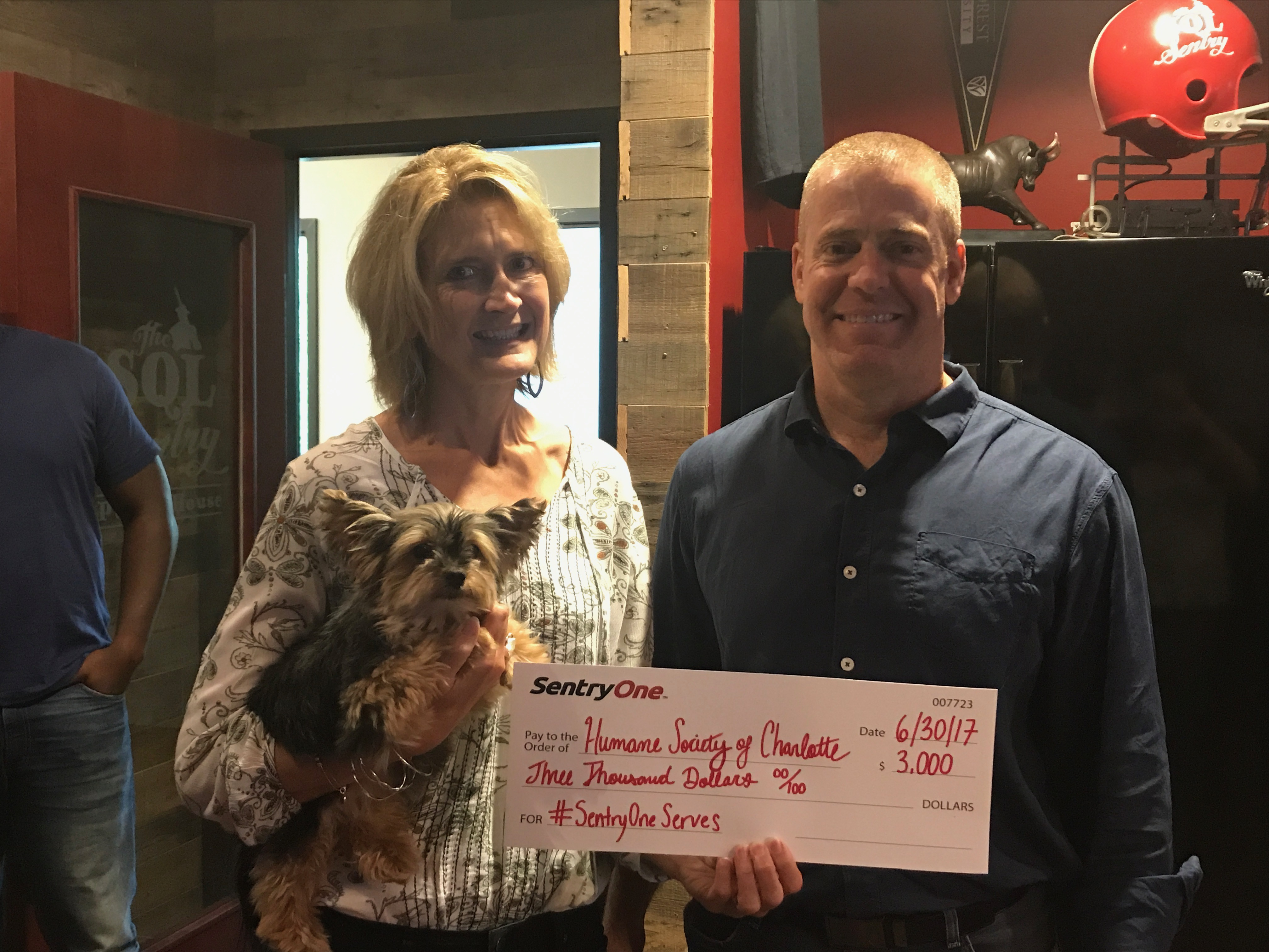 SentryOneServes Humane Society Donation