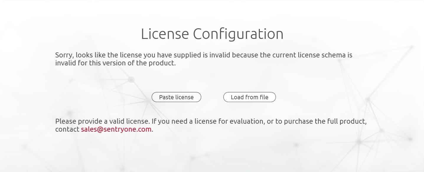 License Schema is Invalid