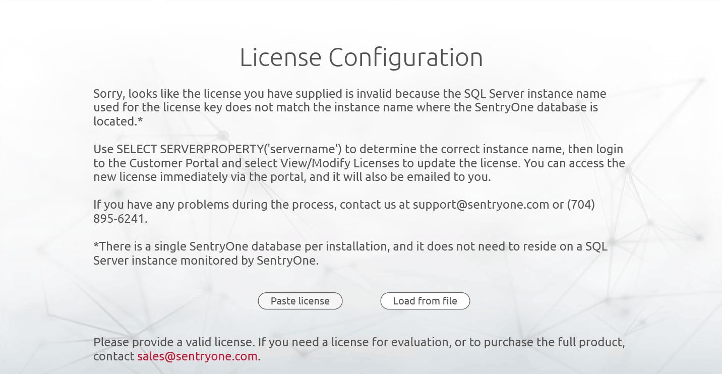 License Key Mismatch