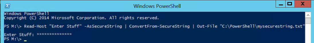 PowerShell Create a Secure String