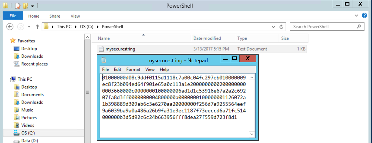 PowerShell the Secure String
