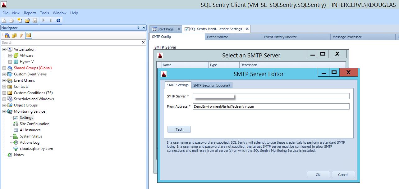 SMTP Settings
