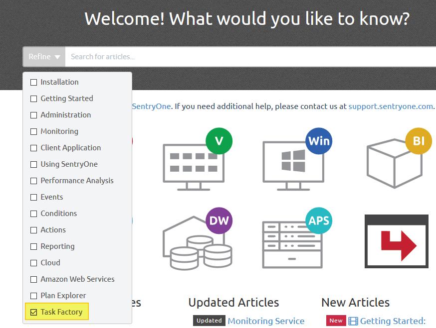 SentryOne Documentation Refine Search