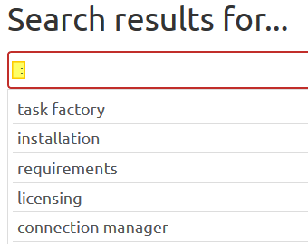 Task Factory Documentation Search Tags