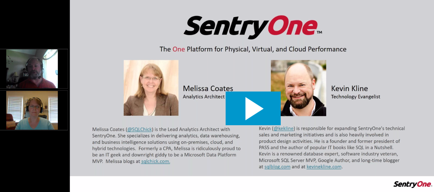 SentryOne Webinar Video Recording