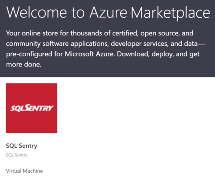SQL Sentry in Azure Marketplace
