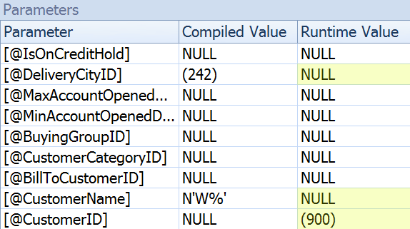 Parameters Tab 2