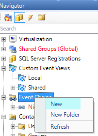 Create New Event Chain