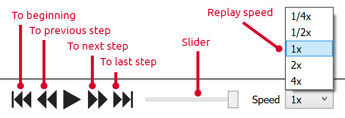 Deadlock replay controls (click to enlarge)