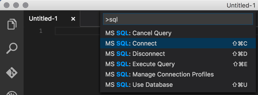 MS SQL: Connect