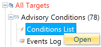 Global Advisory Conditions
