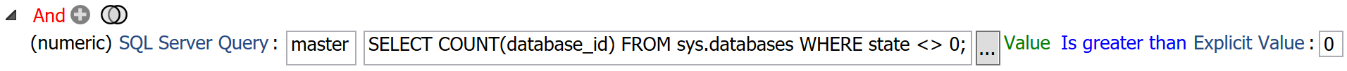 Execute SQL Condition