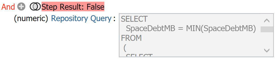 Query selecting only the space debt