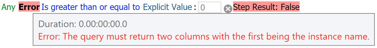 One column error