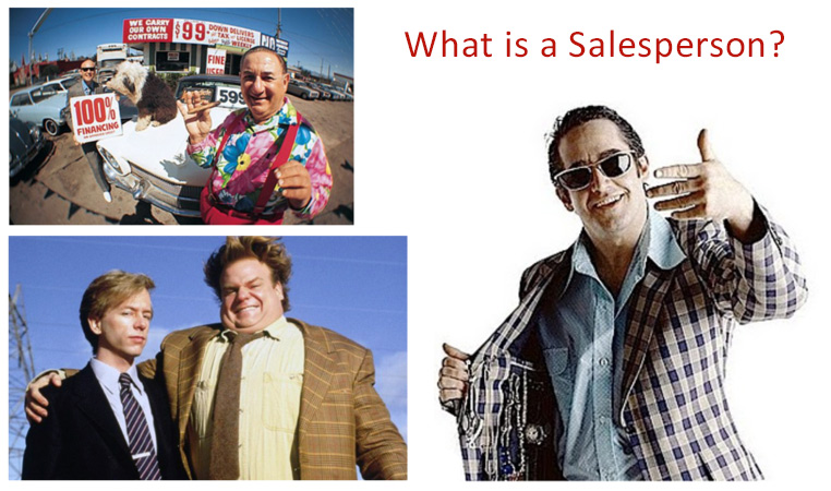 What is a salesperson?
