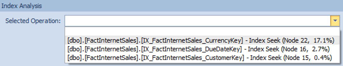 Index Analysis Window Screenshot