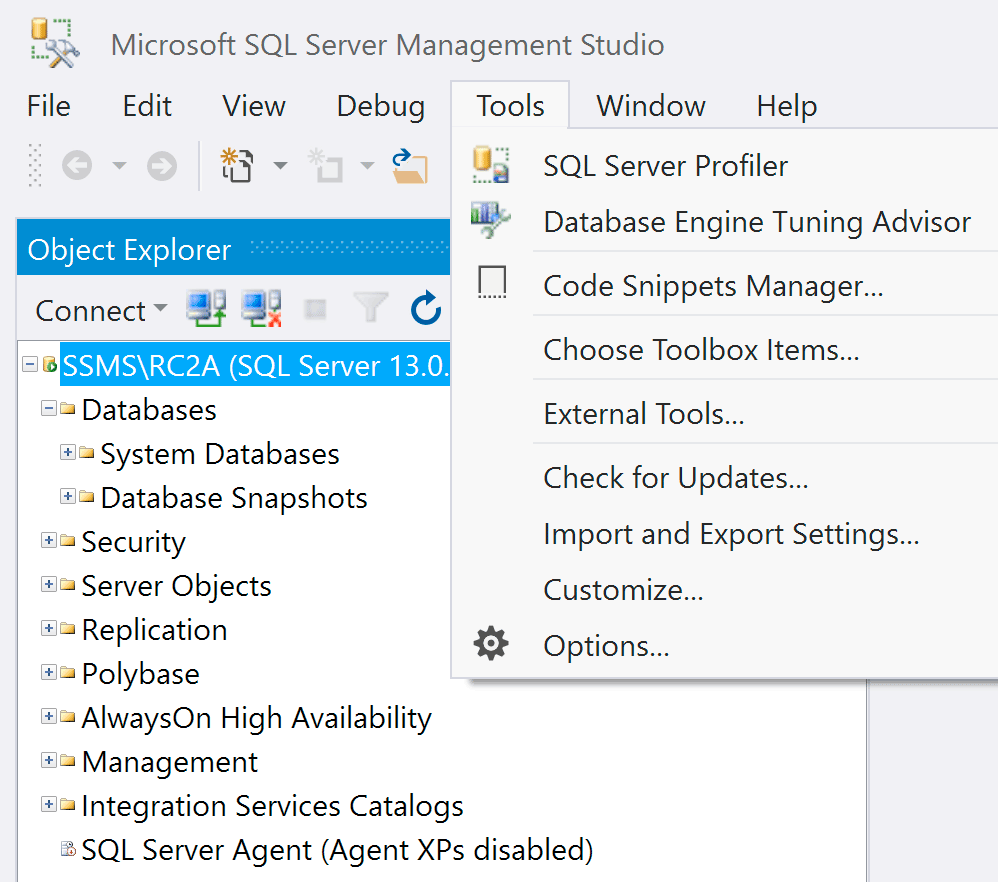 SSMS with HiDPI override