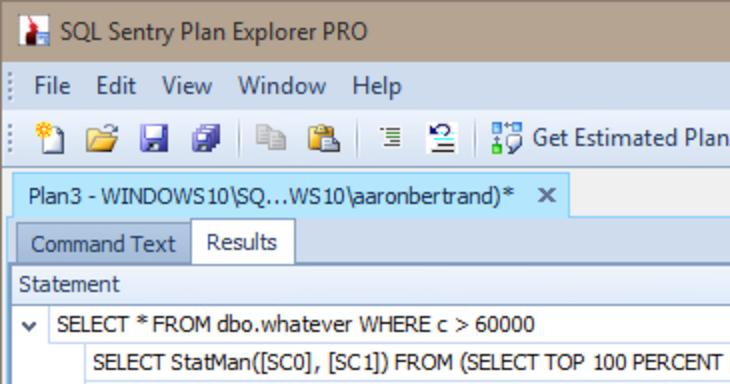 Capturing StatMan statistics updates in SQL Sentry Plan Explorer PRO