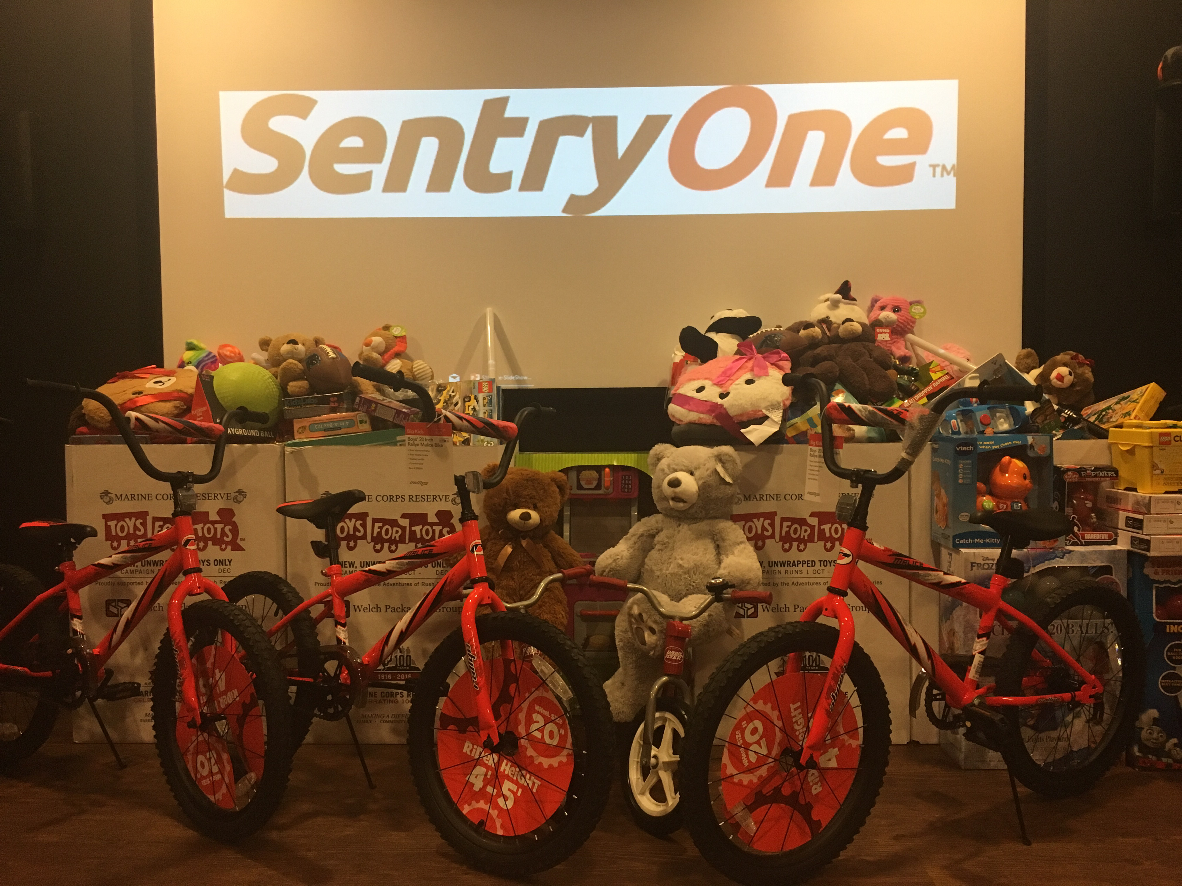 SentryOne's Toys for Tots Donation Boxes